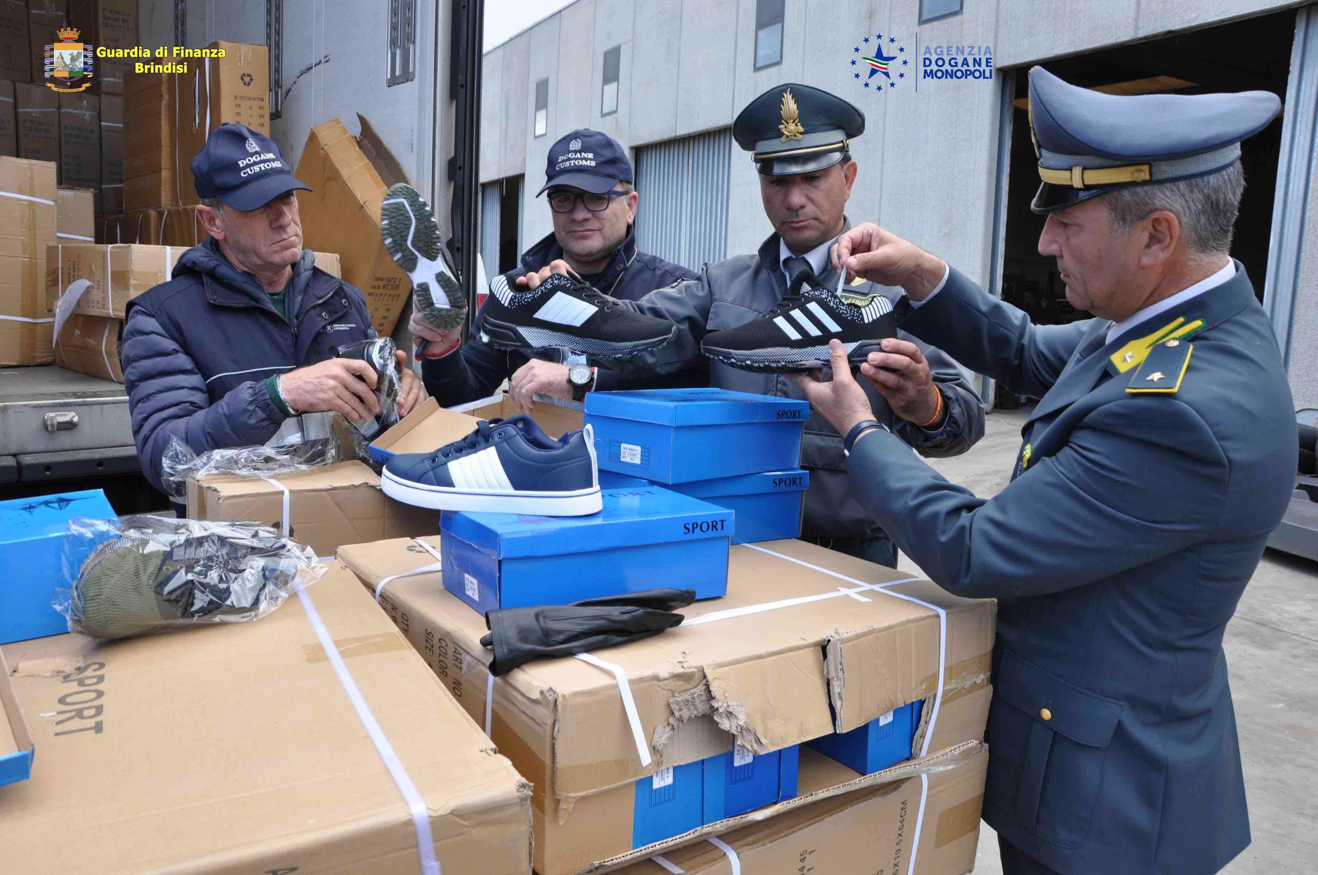 4f715cf8b4 Merce contraffatta per un valore commerciale di oltre 1 milione e 300mila  euro è stata sequestrata nel porto di Brindisi.