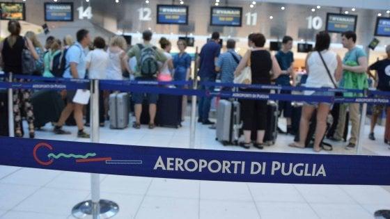 Aeroporti di Puglia, cassa integrazione straordinaria per fronteggiare l'emergenza Coronavirus