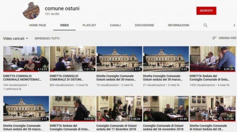 Giallo sullo streaming del Consiglio comunale: inaccessibile la registrazione sul canale YouTube del Comune