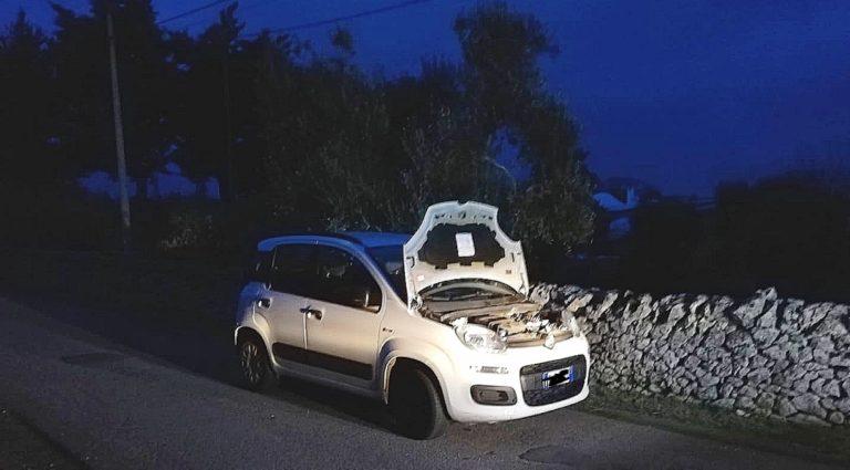 Furto d'auto in pieno centro a Ostuni: Polizia e Securitas rintracciano il mezzo nelle campagne